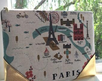 Rifle Paper Co Gilded Paris Clutch