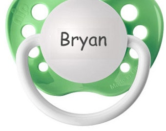 Boy Custom Pacifier - Bryan Binky - Personalized Baby Dummy - Customized Paci - Soothie For Baby - Silicone Baby Pacifier - Newborn Soother