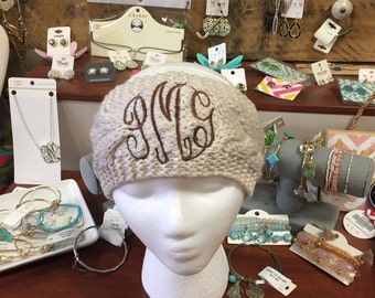 Monogrammed Knitted Head Warmers