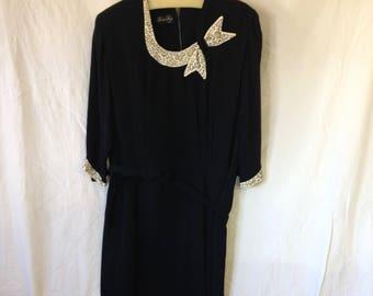 V030 Black chiffon dress