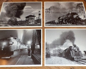 Train Photograph, Set of 10 Antique Photos, Early Transportation Photos