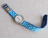 SALE! Turquoise Polka Dot Timex Weekender Replacement 16 mm Watch Band,  SALE!
