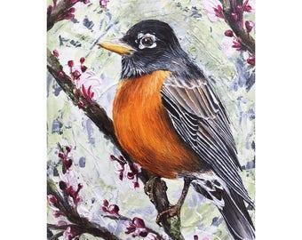 Robin - Original Oil Painting