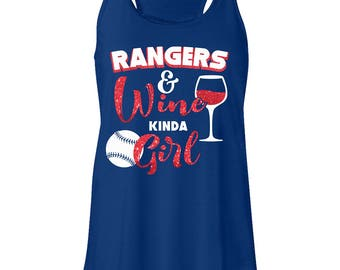 Texas Rangers & wine tees - tanks.Texas Rangers shirts.Rangers baseball. Baseball tanks.Rangers wine drinking shirt
