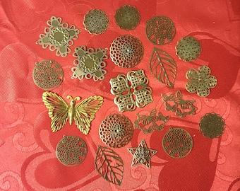 Decorative Metal Filigree - 20 pieces - Lot 3