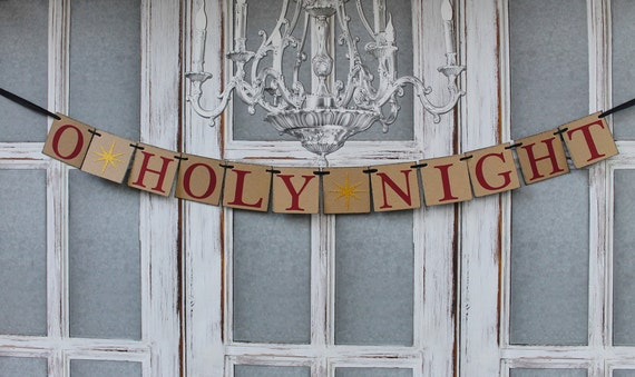 Items similar to christmas decorations burgundy gold for O holy night decorations