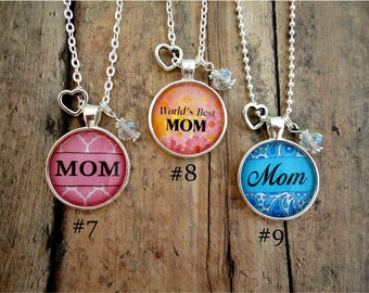 Mother's Day, Charm Necklace, MOM, Mother, gift, custom necklace, jewelry, FREE Shipping!!