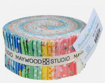 Sale!   Sale!   Jelly Roll - ANIMAL QUACKERS - A Kim's Cause Collection     Jelly Roll -  40 - 2.5 Inch Strips    By:  Maywood Studios