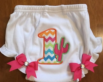 Fiesta Cacuts 1st Birthday Diaper Cover