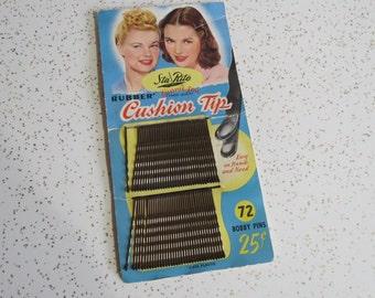 Sta Rite Ginnie Lou Vintage 1940's Bobby Pins w Original Packaging