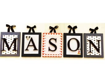 Mickey Mouse inspired Nursery letter,Boys Nursery Letters,Disney Inspired Nursery,Wooden Wall Letters,  Boys Nursery Ideas, Mickey Mouse