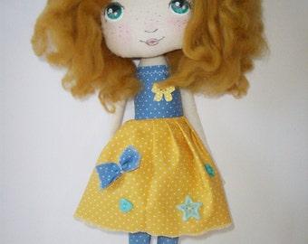 cloth doll, rag doll, girl gift, nursery decor,