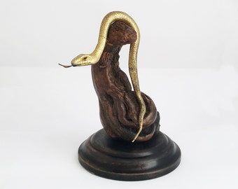 1930s French Snake Serpent Pocket Watch Holder Art Deco Pocket Watch Stand