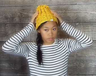 PATTERN for Cable Beanie - instant download