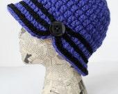 Custom Order: Red Sparkle Crocheted Cloche