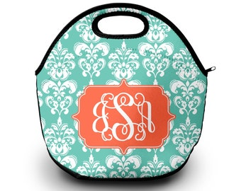 Lunch Bag for Women   Damask   Lunch Bag   Gift for Her Lunch Bag for Women