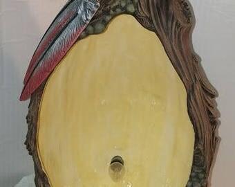 Lighted Wood Carved Vase