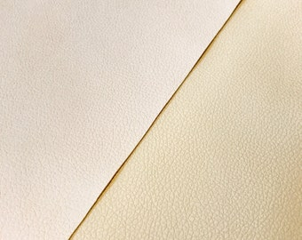 Ivory / Cream Leatherette Sheet Thin 0.7mm A4 8X11 or A5 Size Ivory Cream Faux Leather Fabric Small Lychee Pattern PU Leather Thin Leather