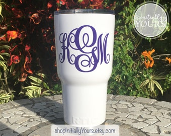Personalized Monogram Vinyl Decal DIY Vinyl Stickers - Vinyl cup decals