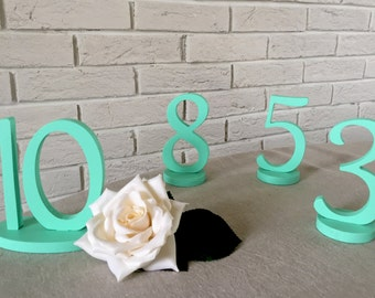 Freestanding Black Table Numbers  For Weddings- Wedding Table Numbers- Weddings / Decor - Table Numbers- Table Number \ 1 to 20 set \