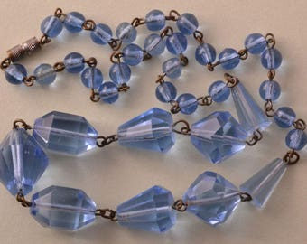 Crystal Art Deco 1930's Necklace (809w)