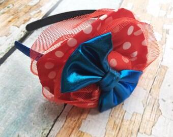 American Headband - July 4 Head Band - July 4th Headband - Glitter Headband - Red, White, and Blue Headband for Girl - Patriotic Bow -