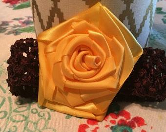 Yellow Rose Hairband