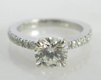 Wonderful Platinum 1.16 Carat Diamond Engagement Ring size 4