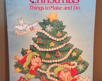 Vintage 1991 Giant Color Activity Book Christmas Things To Make And Do By