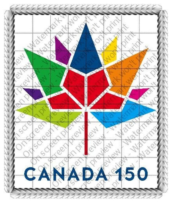 Canada 150th Anniversary Birthday - Edible Cake and Cupcake Topper For Birthday's and Parties! - D22390
