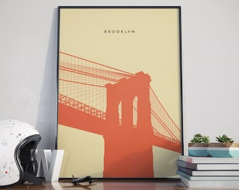 Brooklyn Bridge, Print. Poster.