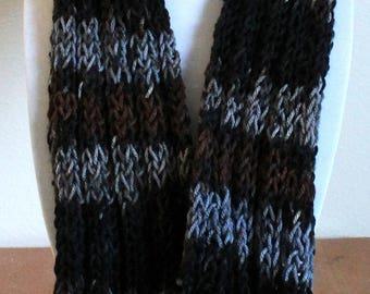Charcoal/Brown Infinity Scarf