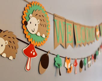 Amazing Woodland Baby Shower, Woodland Baby Shower Decorations, Baby Shower Banner,  Rustic Shower,