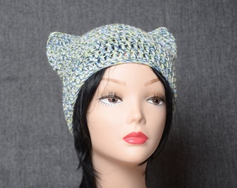 crochet cat hat Women's beanie cat ear hat fashion gift spring accessories