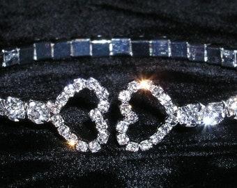 Style # 14942 - Kissing Hearts Wraparound Coil Bracelet