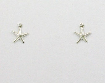 Sterling Silver Starfish Charms, Set of 2