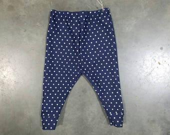 Navy polka dot leggings