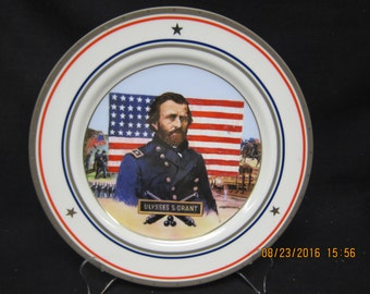Anheuser -Busch General Ulysses S. Grant Civil War Collector Plate (Plate #255) - 1992