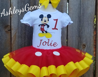 Mickey Mouse Birthday Outfit Girl, Minnie Mouse Birthday Outfit, Mickey Mouse Tutu, Mickey Mouse Dress, Mickey Tutu, Mickey Dress