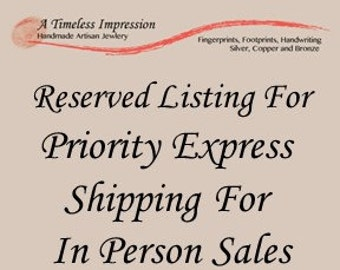 First Class Shipping for In Person Sales - To Be Used By SELLER Only