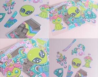 Random Girly Sticker Pack