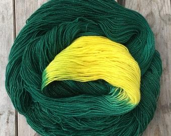 Forest Moon, hand-dyed soft merino nylon blend sparkle sock yarn
