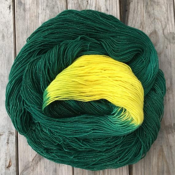 O Christmas Tree, hand-dyed soft merino nylon blend sparkle sock yarn