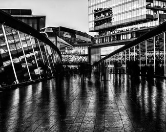 London photo City print wall art shopping lover Urban Monocrome  Landscape gift westfield stratford