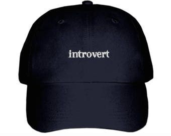 Introvert Embroidered Hat