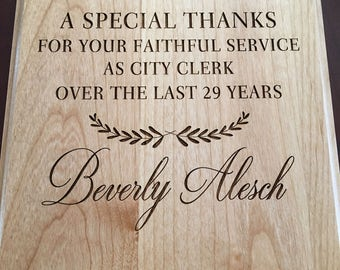 "8"" x 10""  Laser Engraved wood  Plaque, Custom Plaque,"