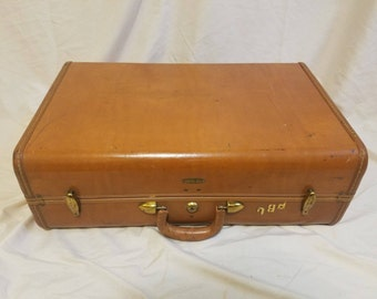 "Vintage Tan Samsonite 21"" Wardrobe Suitcase"