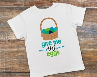Kids Easter Shirt - Toddler Preschool Colorful Easter Basket Tshirt