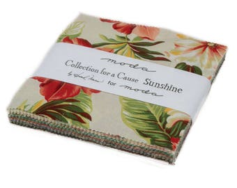 """Moda Charm Pack. """"Collections for a Cause Sunshine,"""" by Howard Marcus for Moda"""