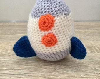 Crochet soft rocket toy